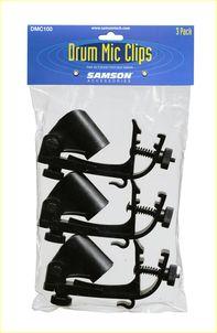 Samson DMC100 - Clip per Microfono Batteria - 3 pezzi