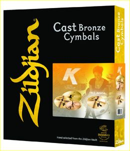 Zildjian Cartone 5 K (K0800): ride + hi-hat + 2 crash SET PACK