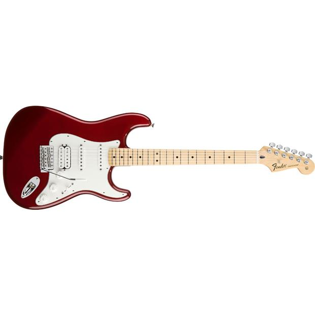 FENDER STANDARD MEX HSS STRATOCASTER MN CAR CANDY APPLE RED TINT - 0144702509