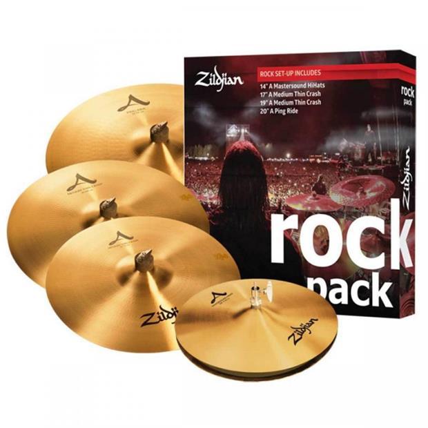 Zildjian A series Avedis Cartone 5 A Rock (A0801R): ride + hi-hat + 2 crash