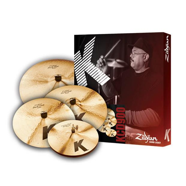 Zildjian Cartone 5 K Custom Dark (KCD900): ride + hi-hat + 2 crash - Batterie / Percussioni Piatti - Set Completi