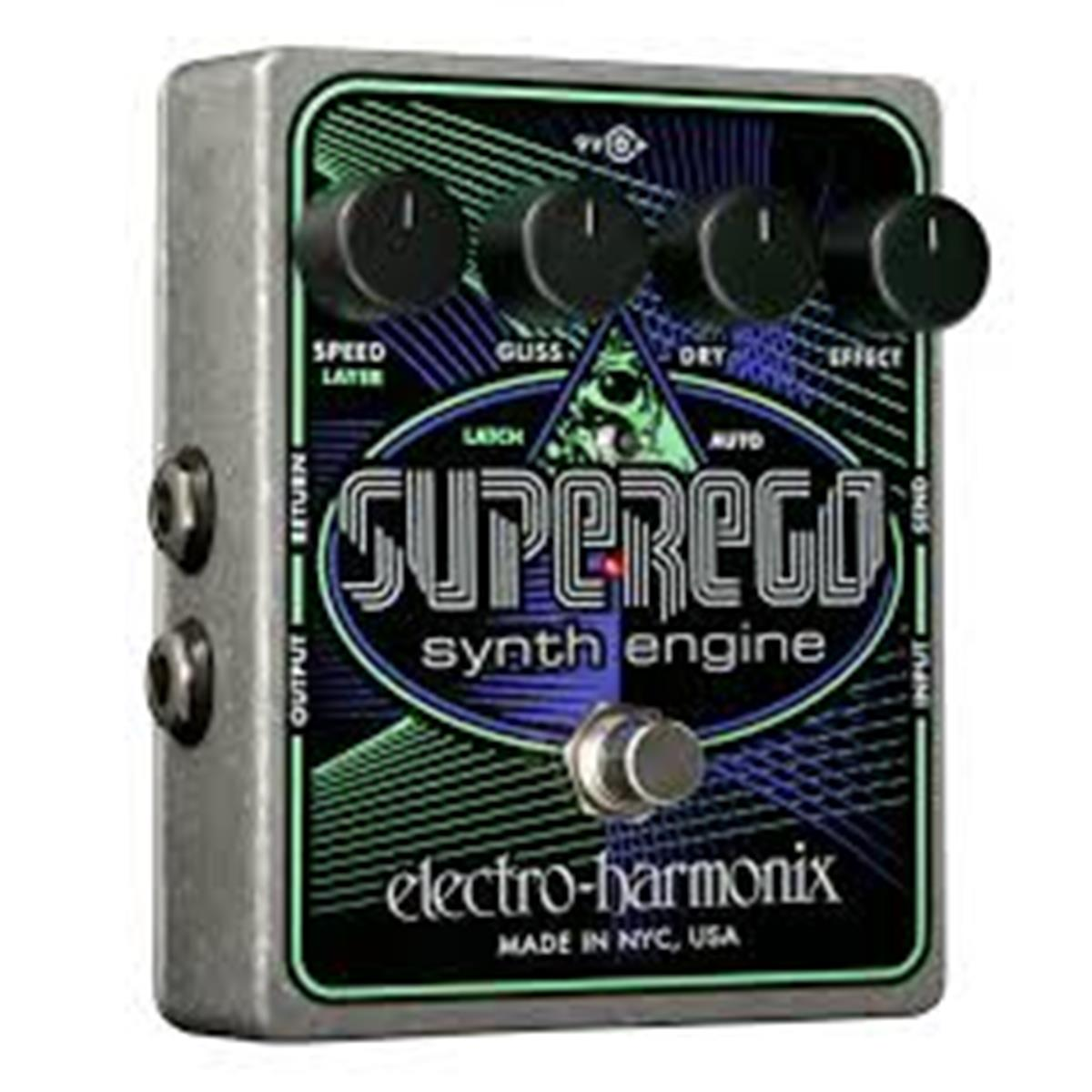 ELECTRO HARMONIX SUPEREGO  Synth engine from Moog to EMS  9.6DC-200 PSU included