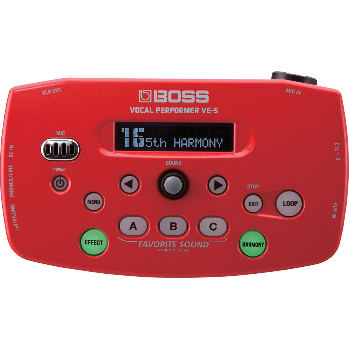 BOSS VE 5 RD - COLORE ROSSO VOCAL PERFORMER