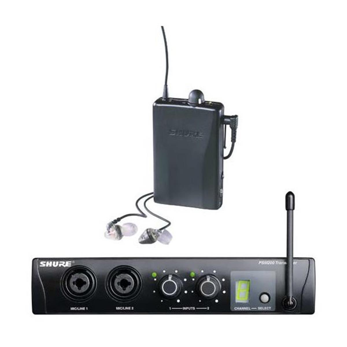 SHURE PSM200 P2TR112GR SISTEMA EAR MONITOR CON CUFFIE