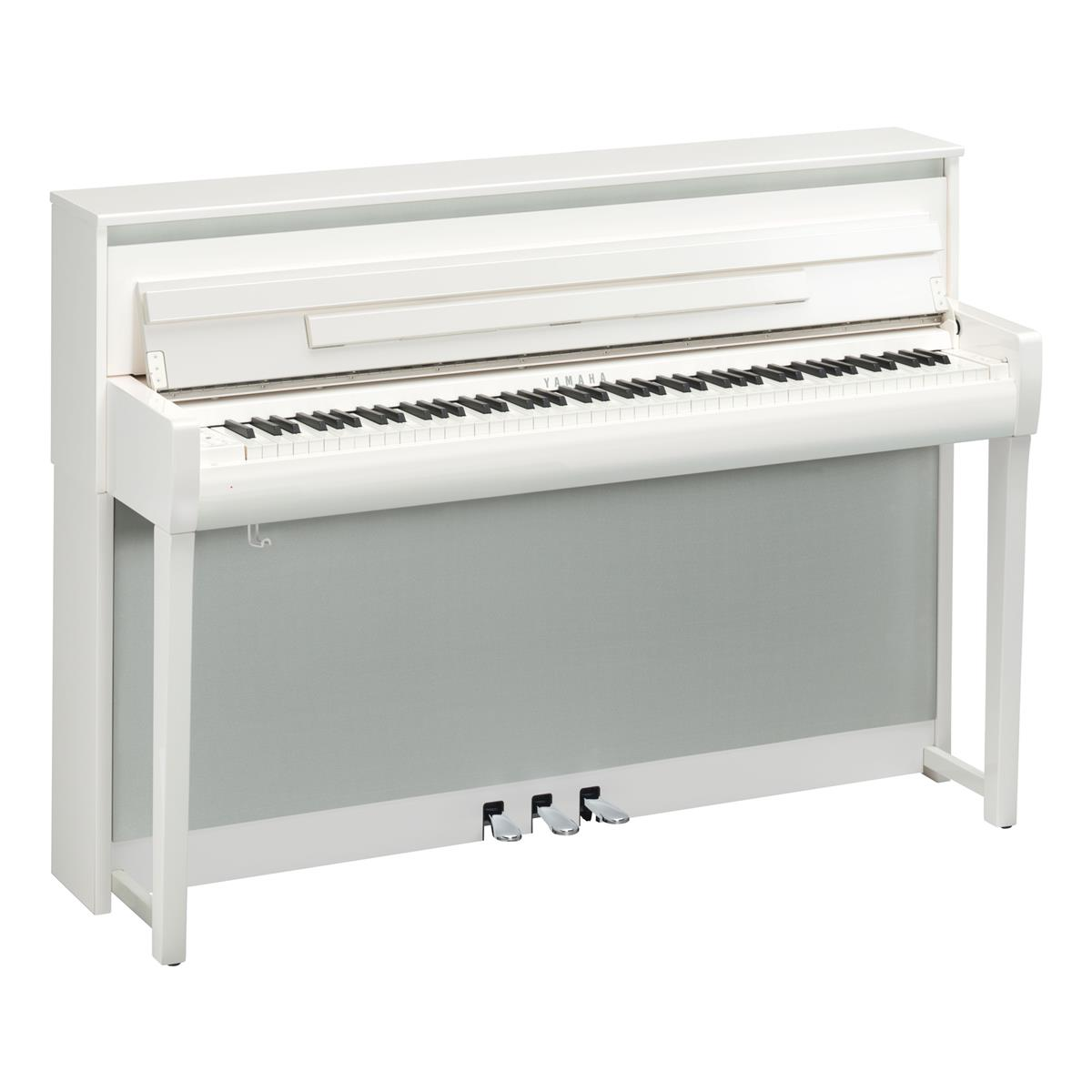 YAMAHA CLP685PWH - CLAVINOVA - DIGITAL PIANO POLISHED WHITE - Tastiere Pianoforti Digitali