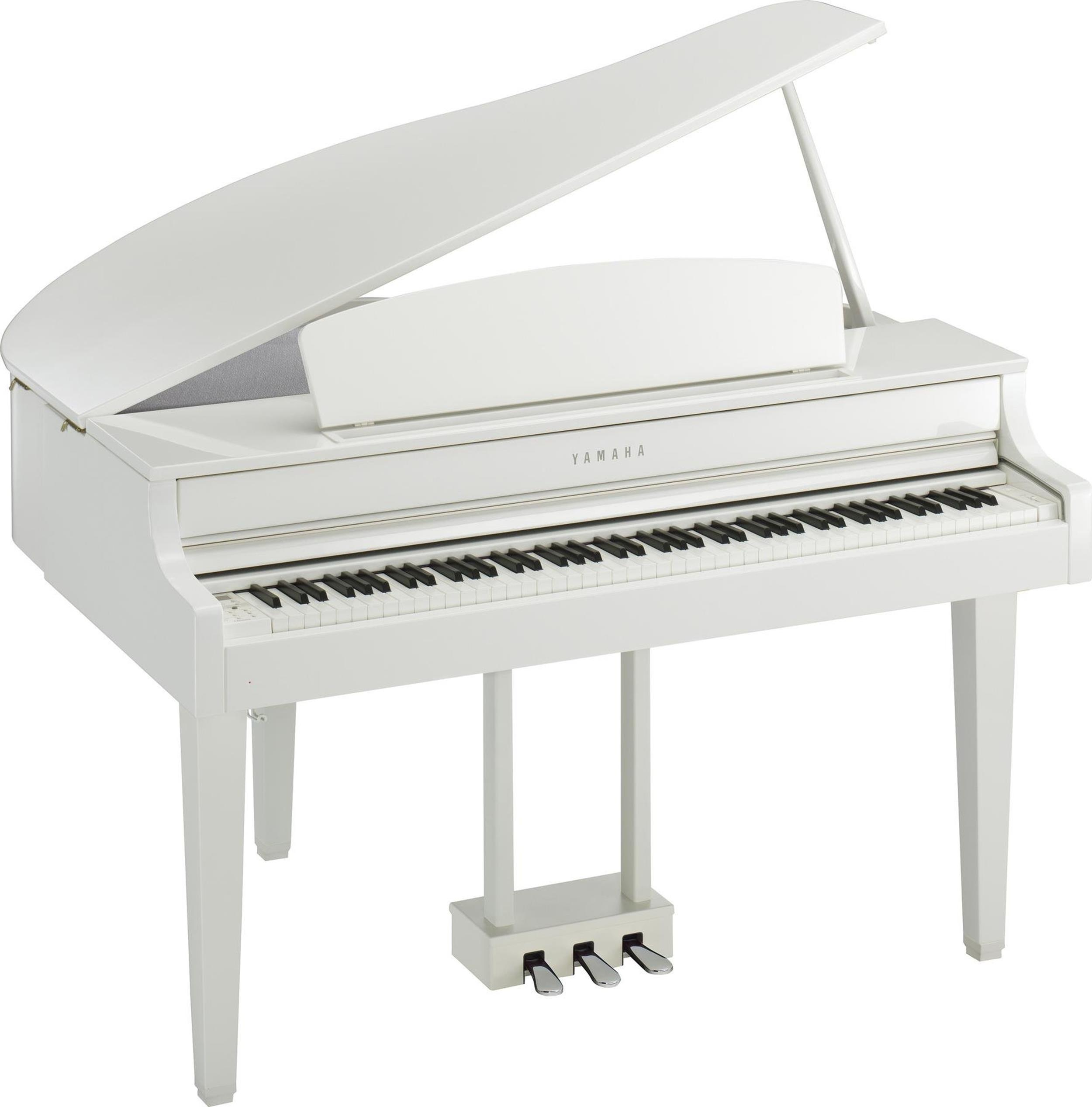 YAMAHA CLP665GPWH - CLAVINOVA - DIGITAL PIANO POLISHED WHITE