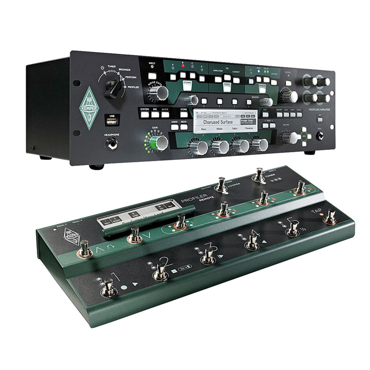 KEMPER PROFILER RACK SET BUNDLE + REMOTE CONTROL PEDALBOARD - Chitarre Amplificatori - Testate