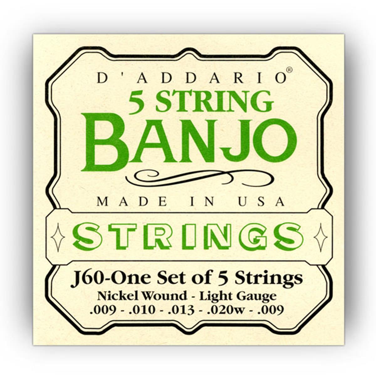 D'ADDARIO J60 5 STRING BANJO MUTA - Strumenti A Corda Strumenti a Corda - Corde e Accessori