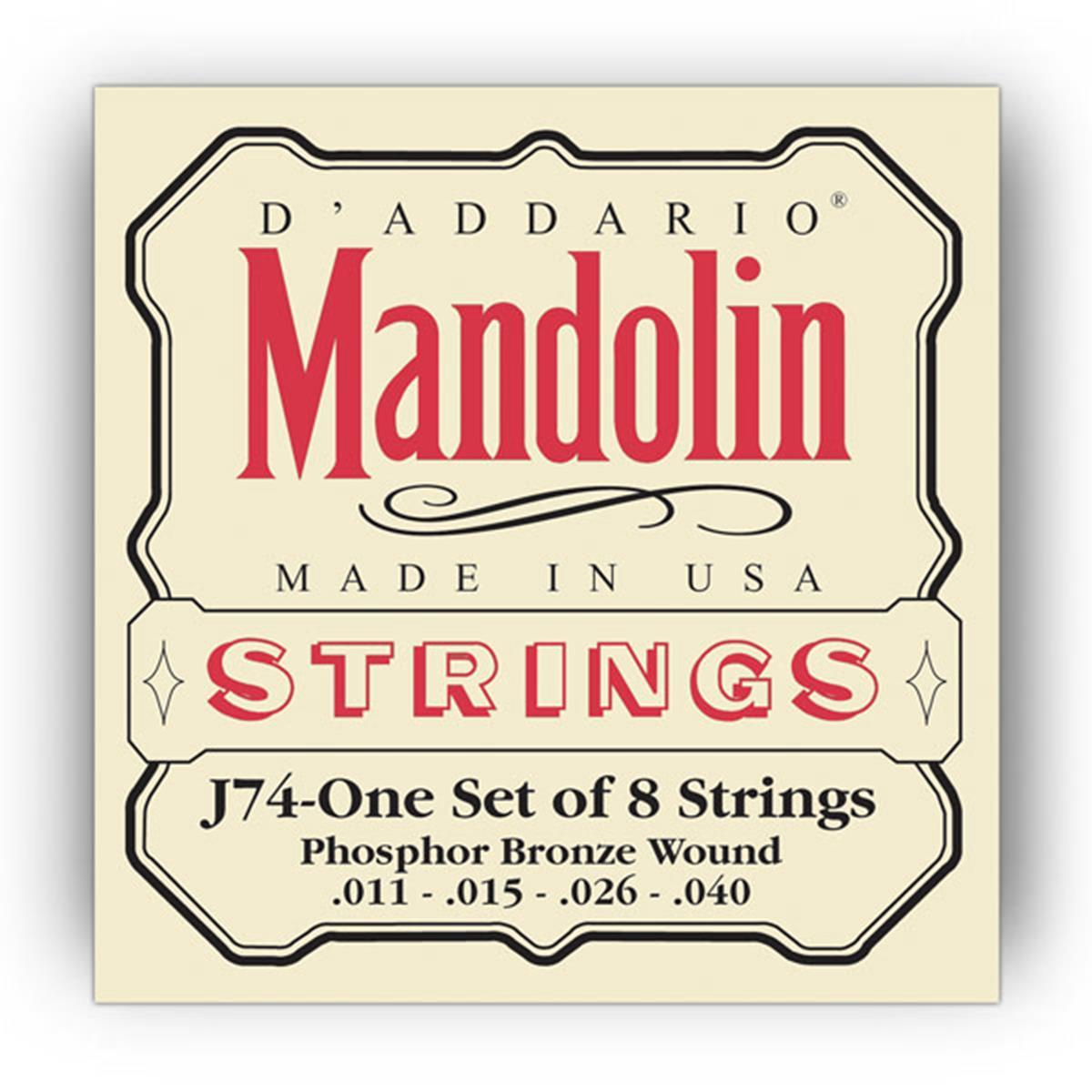 D'ADDARIO J74 J73 MUTA CORDE MANDOLINO - Strumenti A Corda Strumenti a Corda - Corde e Accessori