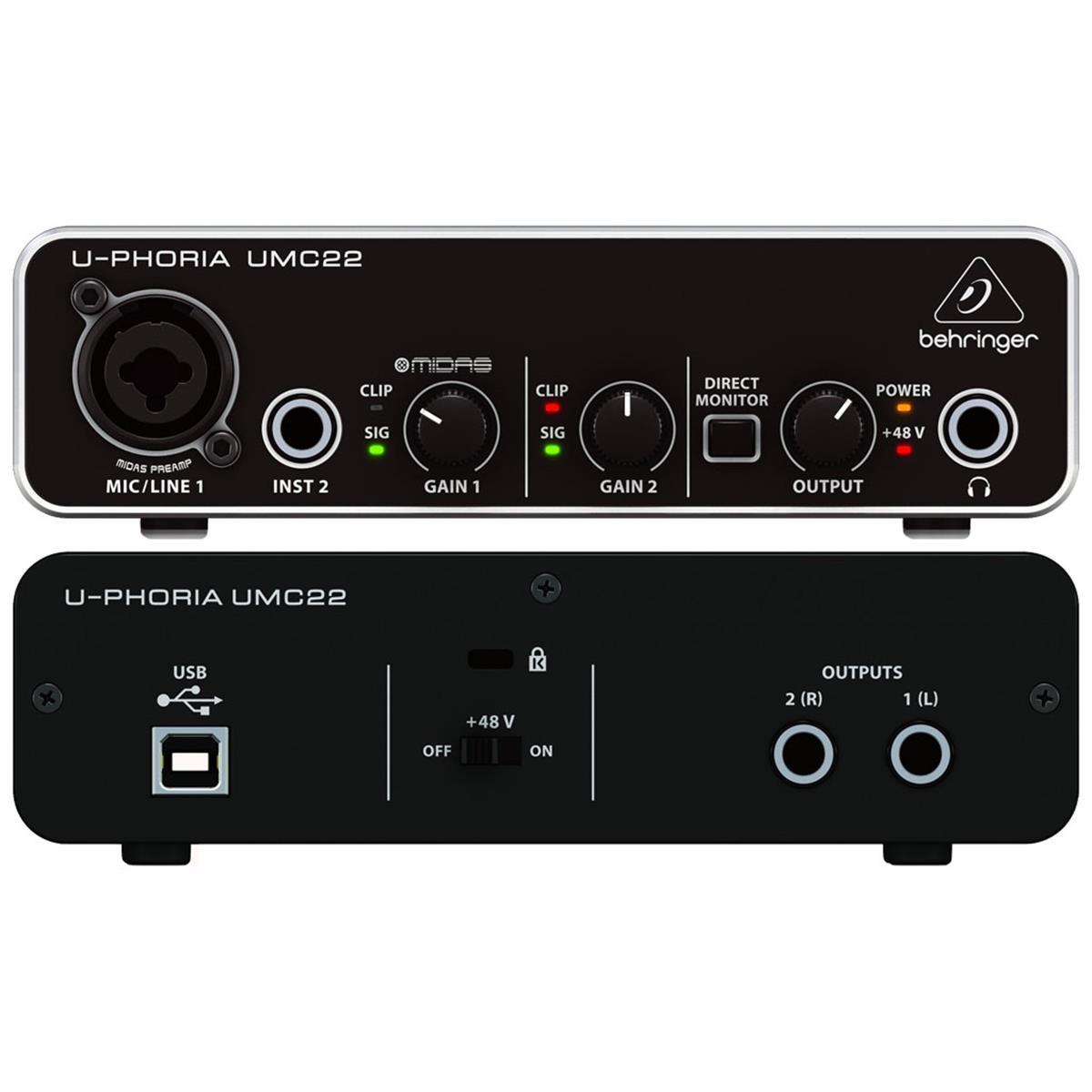 BEHRINGER UPHORIA UMC22 USB