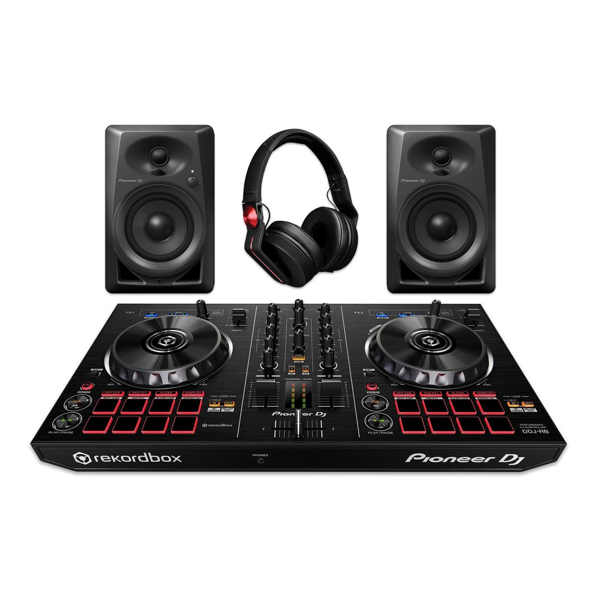 PIONEER DJ STARTER PACK CONSOLLE + MONITOR + CUFFIE