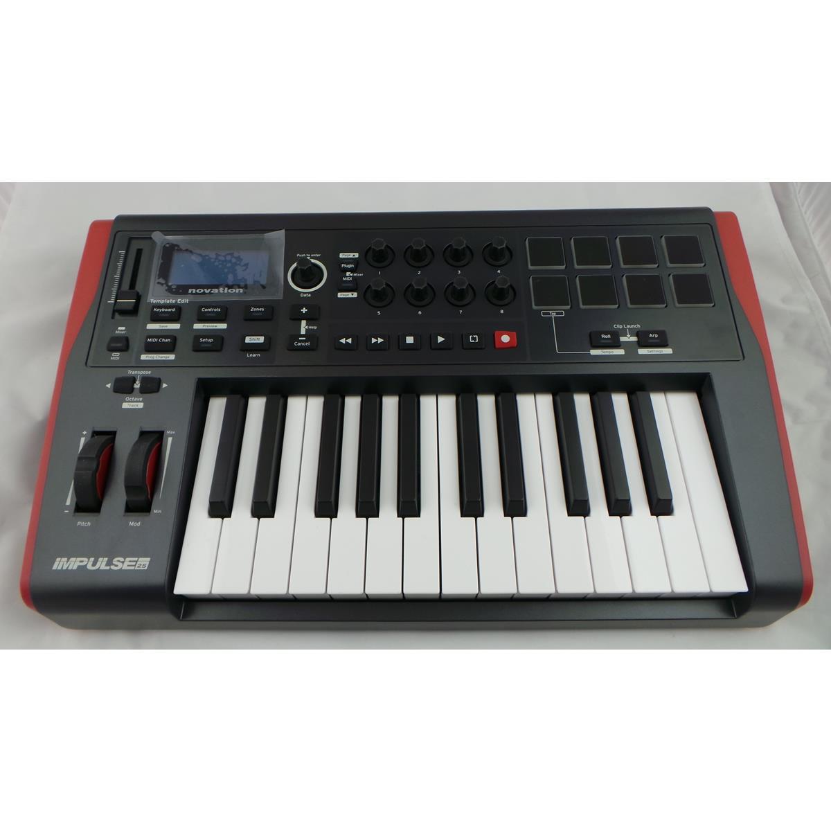 NOVATION IMPULSE 25 TASTIERA MIDI USB ..