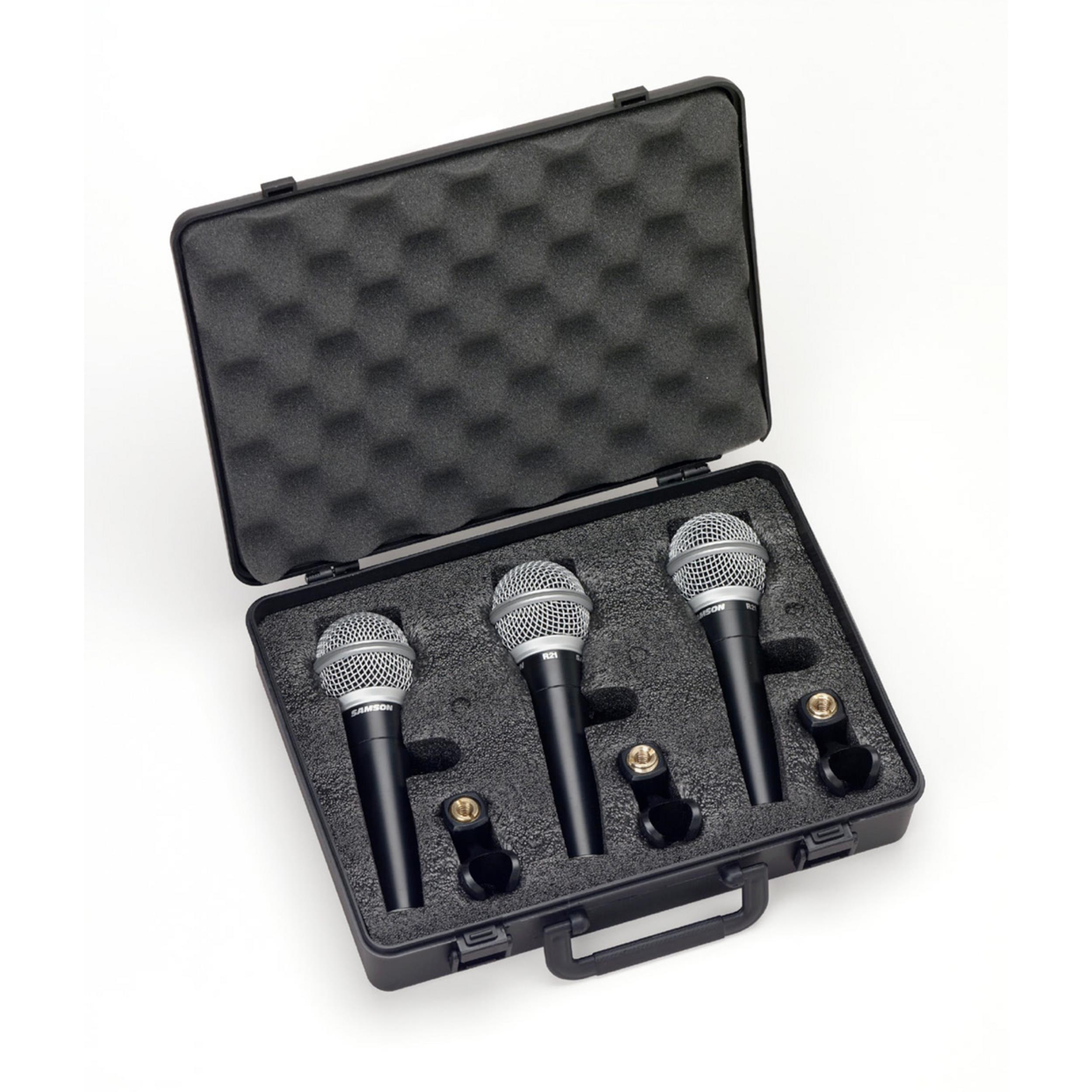 SAMSON-R21-ST3-Microfoni-Dinamici-Cardioidi-Set-3-pezzi-sku-19748