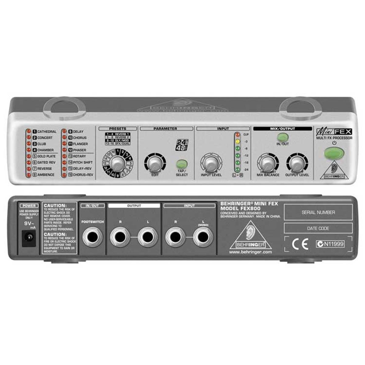 BEHRINGER MINI FEX800 PROCESSORE MULTIEFFETTO