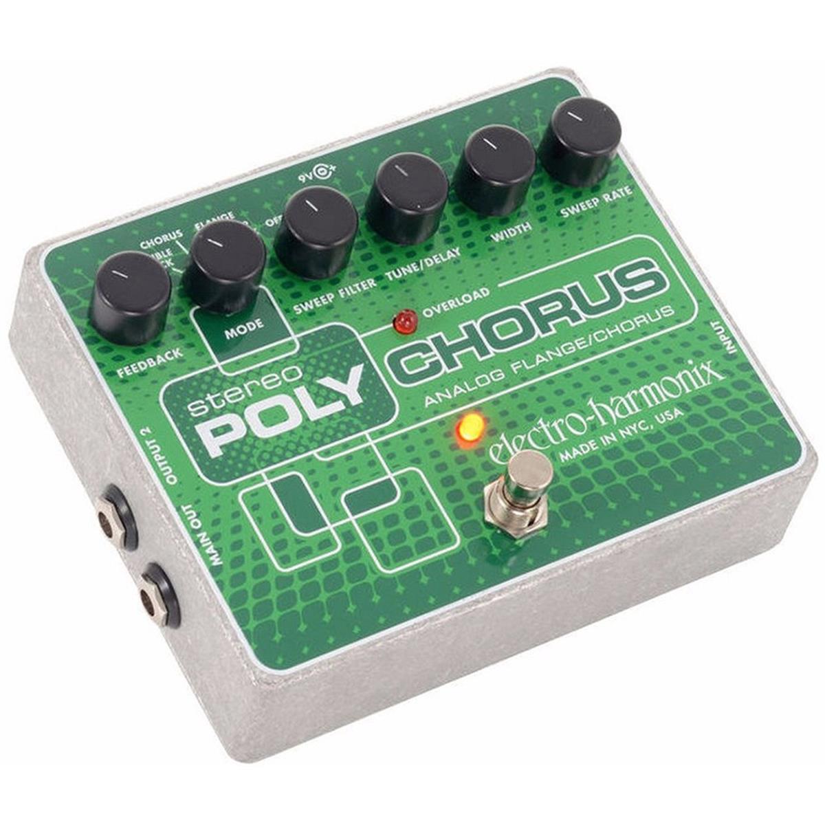 ELECTRO-HARMONIX-STEREO-POLYCHORUS-Analog-Chorus-Flanger-Slapback-Echo-24DC-100-PSU-included-sku-41253193