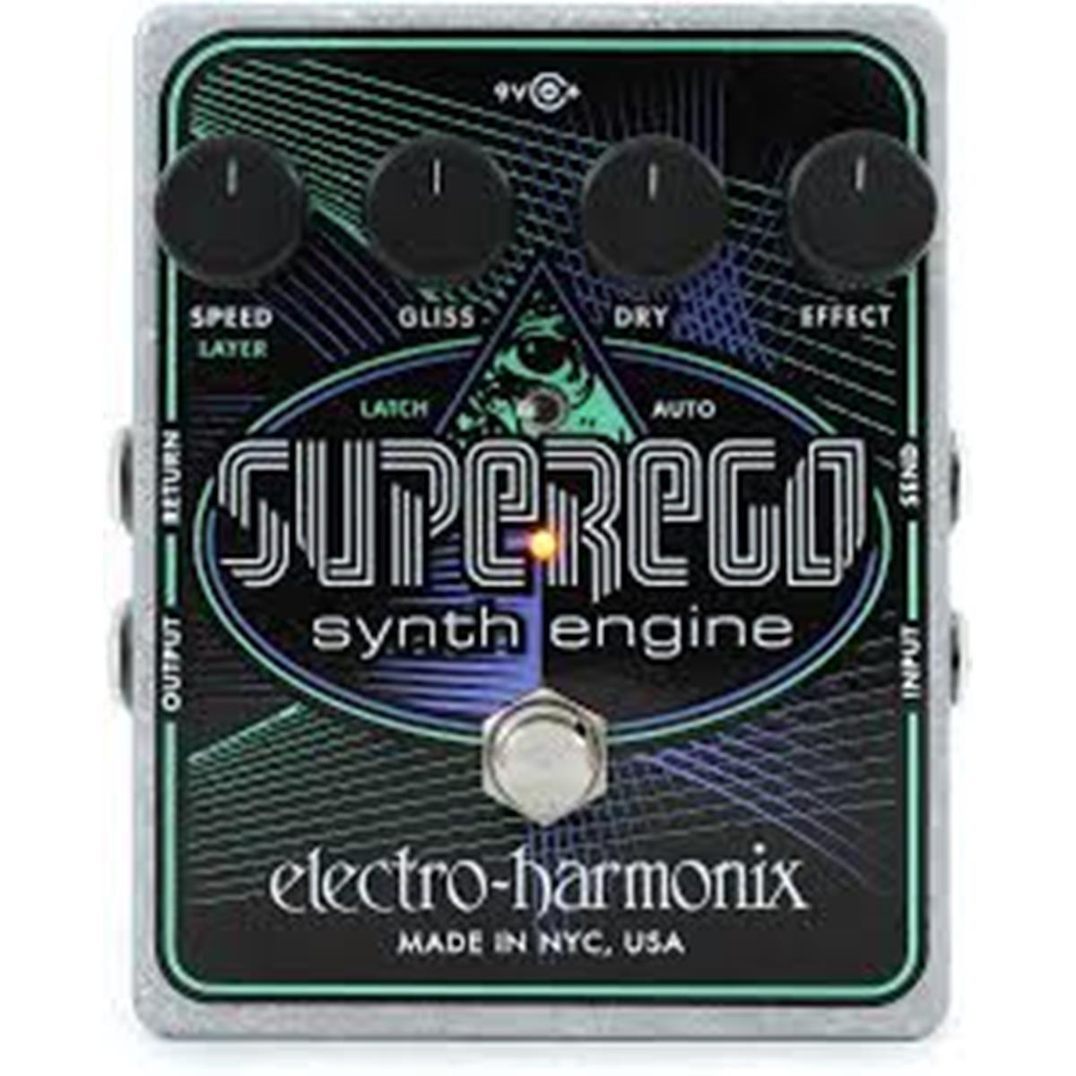 ELECTRO HARMONIX SUPEREGO  Synth engine from Moog to EMS  9.6DC-200 PSU included - Chitarre Effetti - Synth
