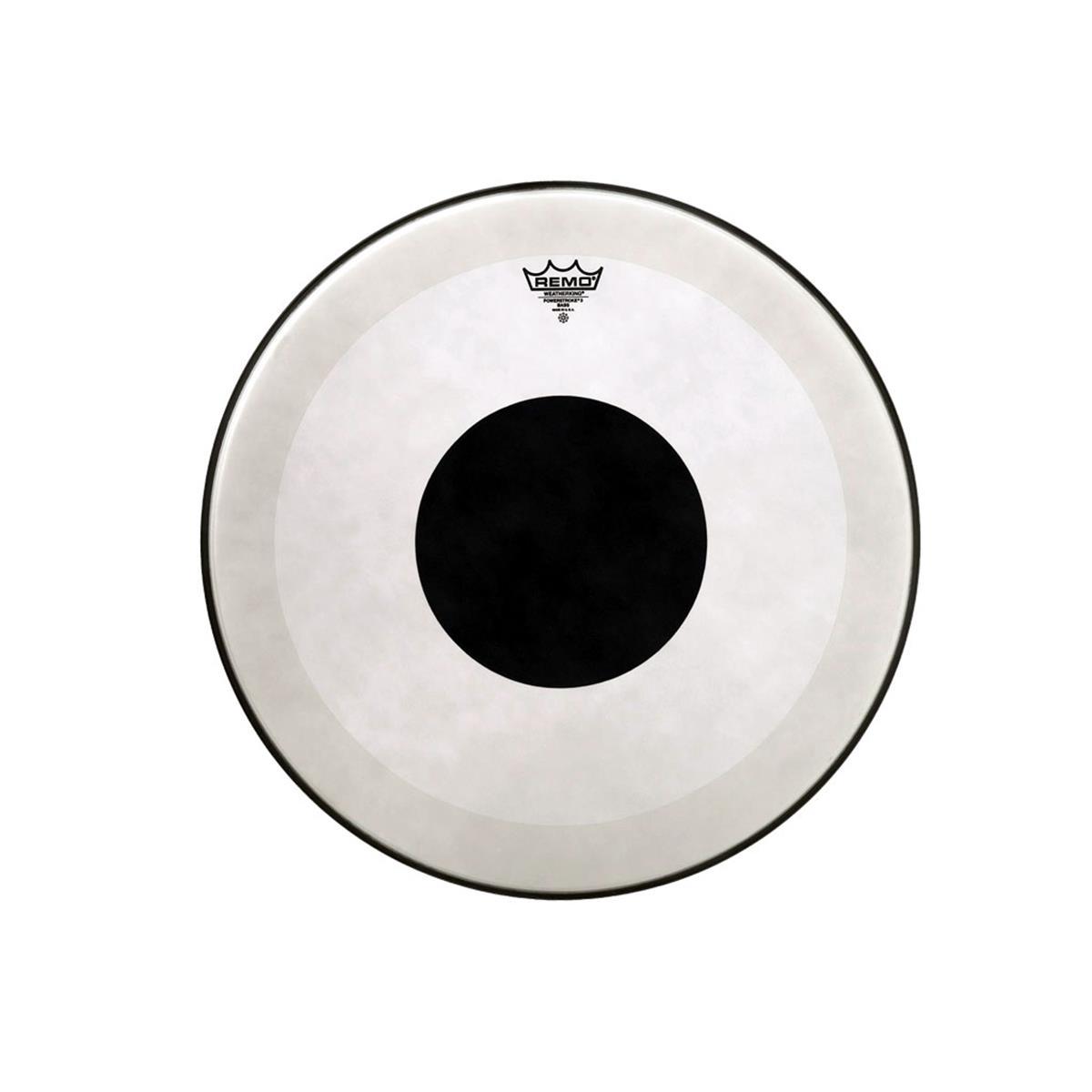 REMO POWESTROKE 3 TRASPARENTE DOT BLACK PER CASSA 18 - Batterie / Percussioni Accessori - Pelli e Cerchi