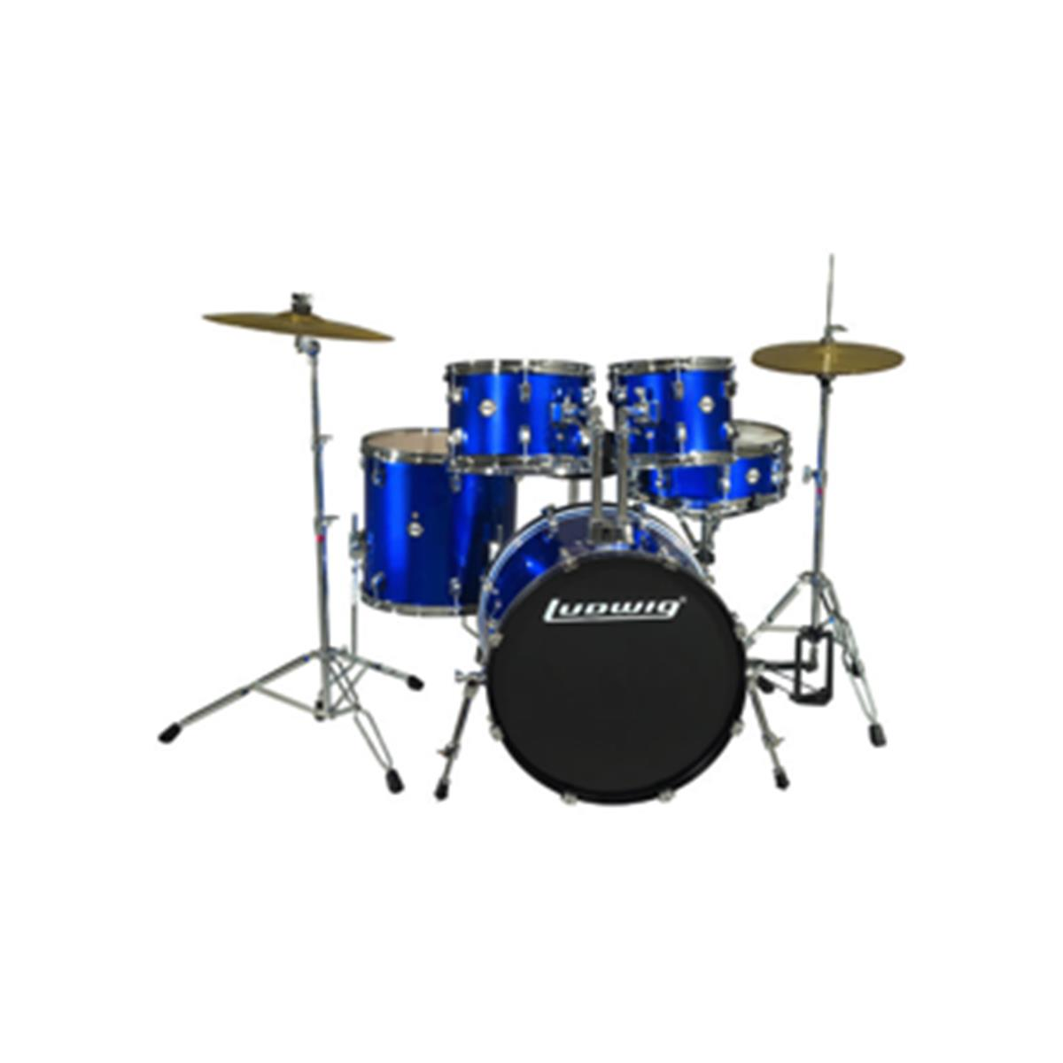 LUDWIG LC1709 - Accent Fusion Deep Blue 10/12/14/20/14 c/HW