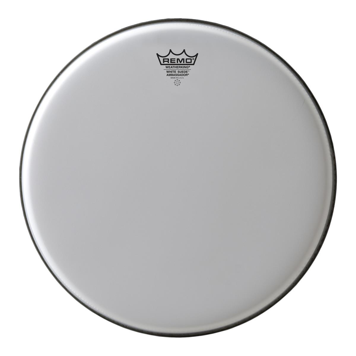 REMO AMBASSADOR WHITE SUEDE 13 - Batterie / Percussioni Accessori - Pelli e Cerchi