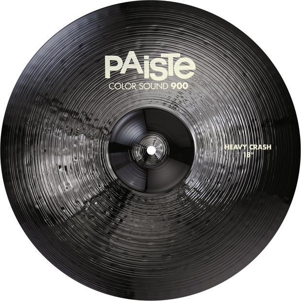 PAISTE 900CS-BKCHC18 - Paiste 900 Color Sound Heavy Crash 18 - Black