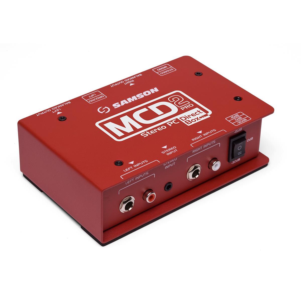 Samson MCD2PRO - D.I. Box Pro - Computer/DJ