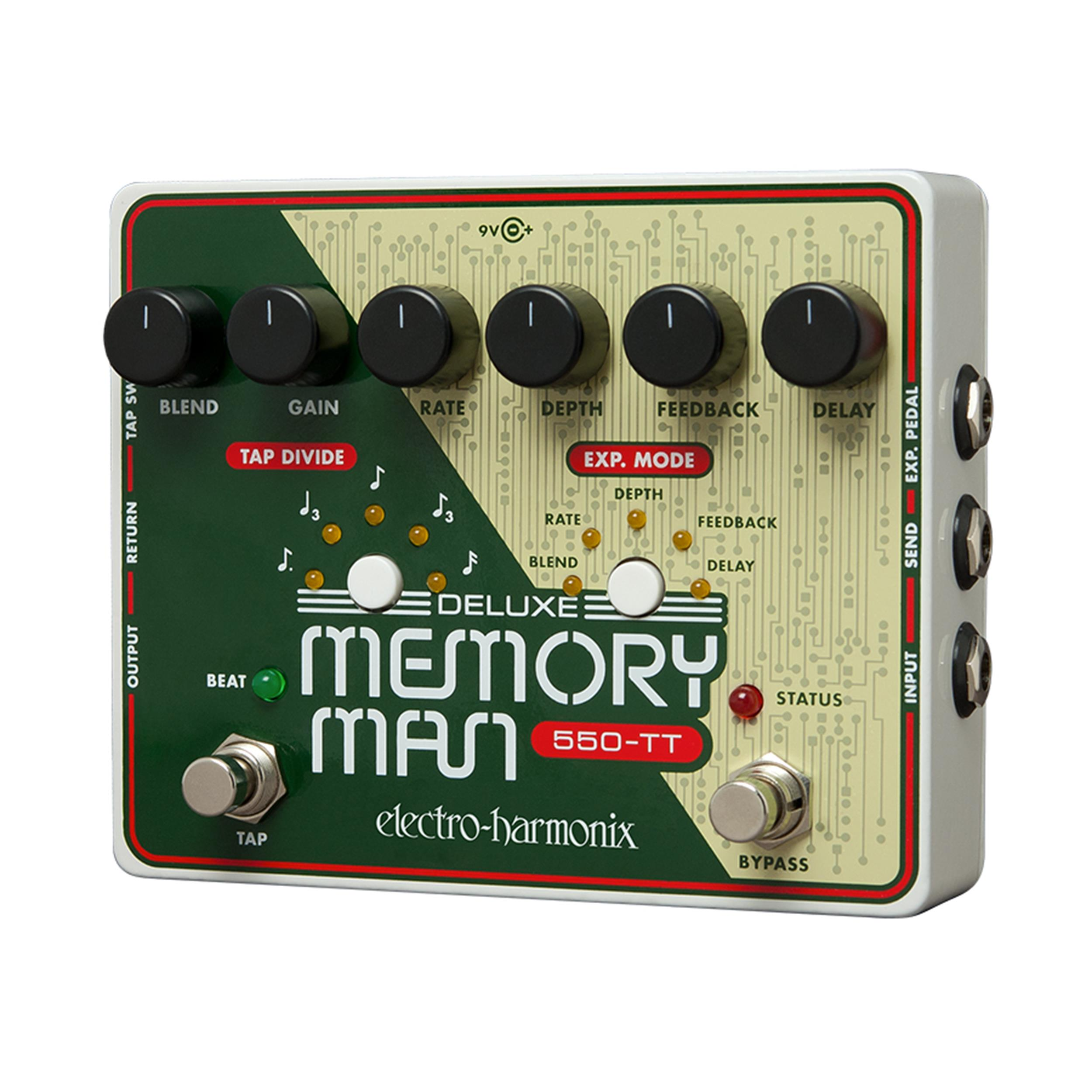 ELECTRO HARMONIX DELUXE MEMORY MAN TAP TEMPO 550 MS - Bassi Effetti - Delay