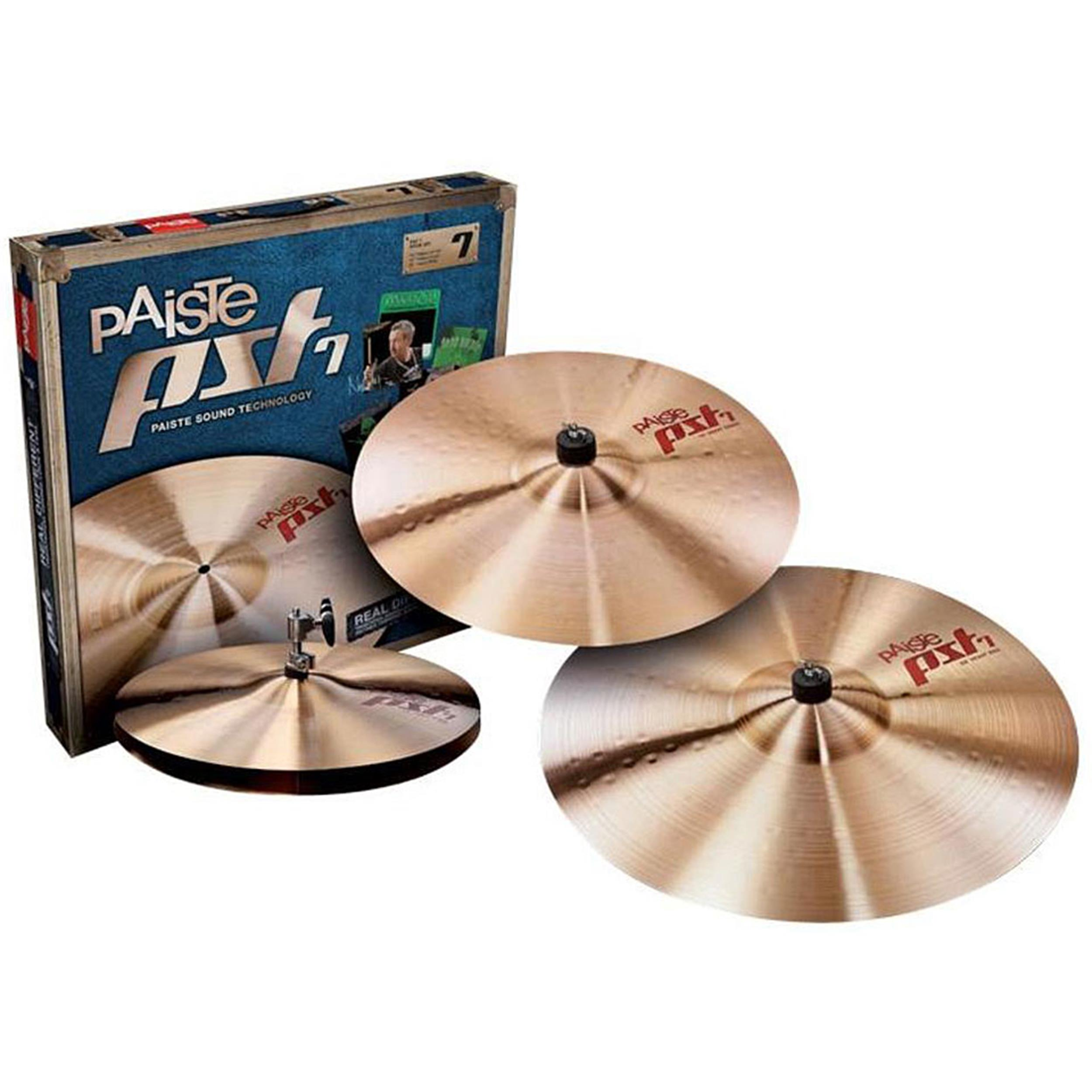 PAISTE PST7 MEDIUM UNIVERSAL SET 14HH + 16CR + 20RD