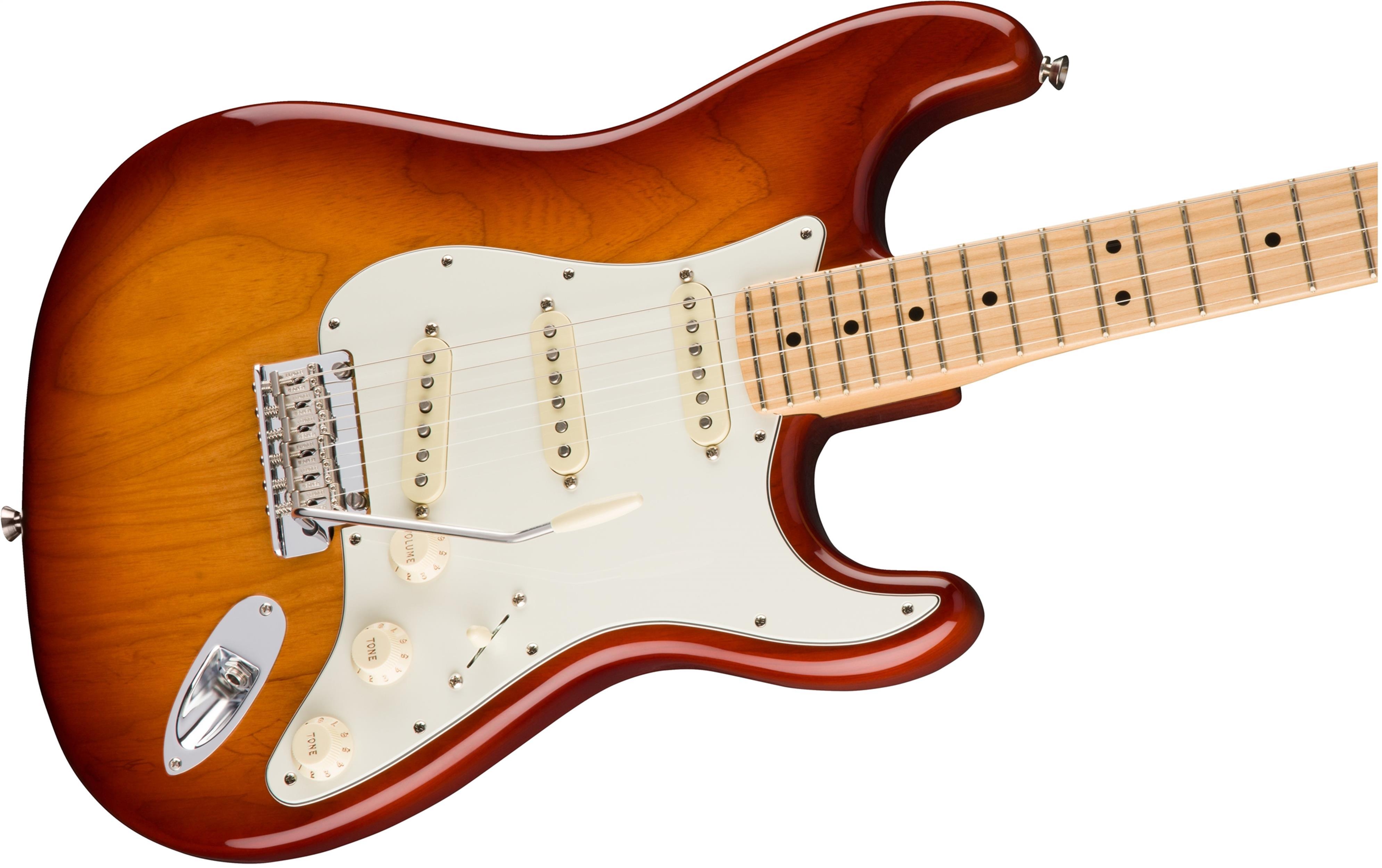 FENDER American Pro Professional Stratocaster ASH MN SIENNA SUNBURST 0113012747