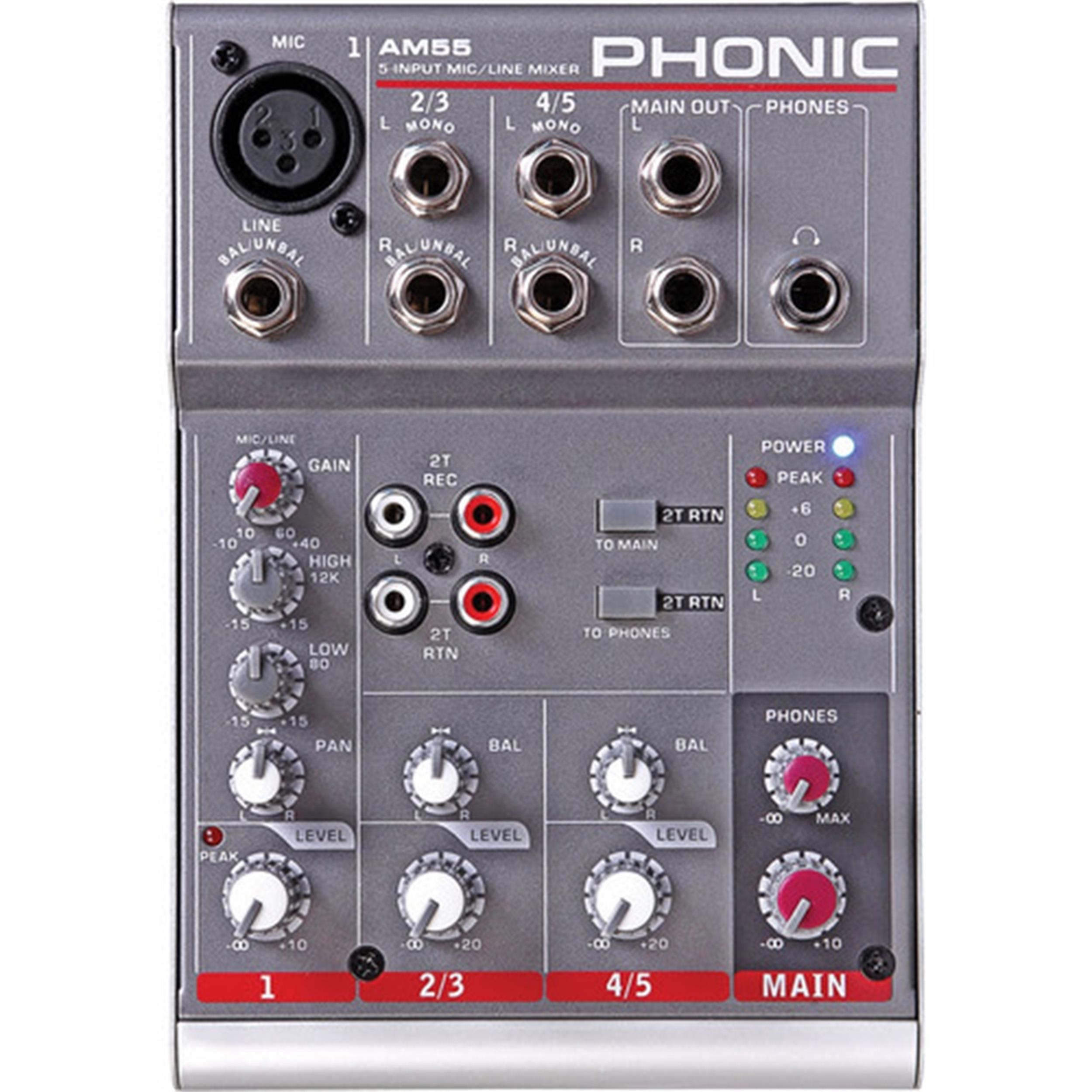 PHONIC AM55 MIXER 2 CANALI