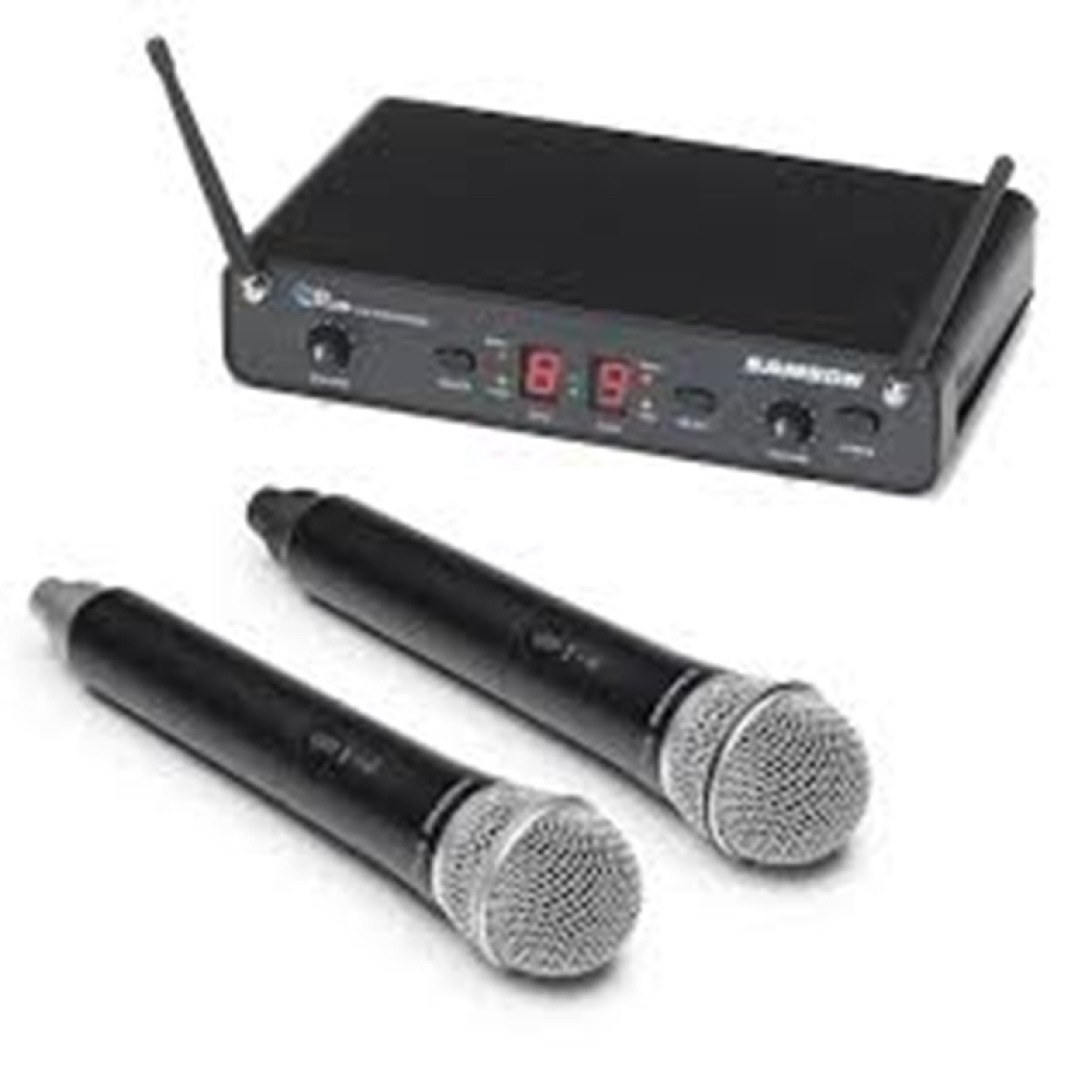 SAMSON CONCERT 288 UHF DUAL HANDHELD SYSTEM DOPPIO RADIO