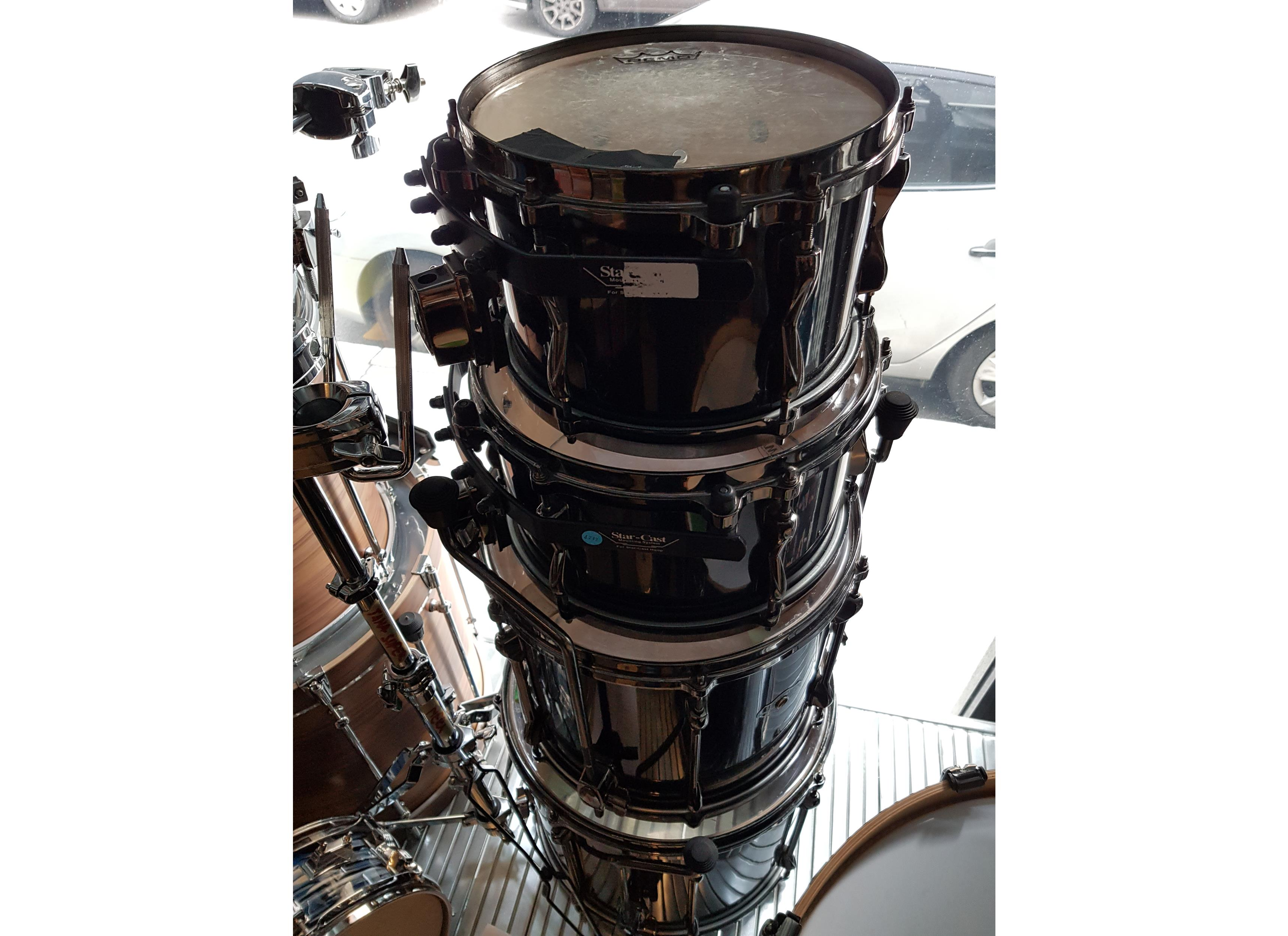 TAMA SUPERSTAR MAPLE HYPER DRIVE SET SK-62 BMB BRUSHED BLACK .. - Batterie / Percussioni Batterie - Batterie Acustiche (set)