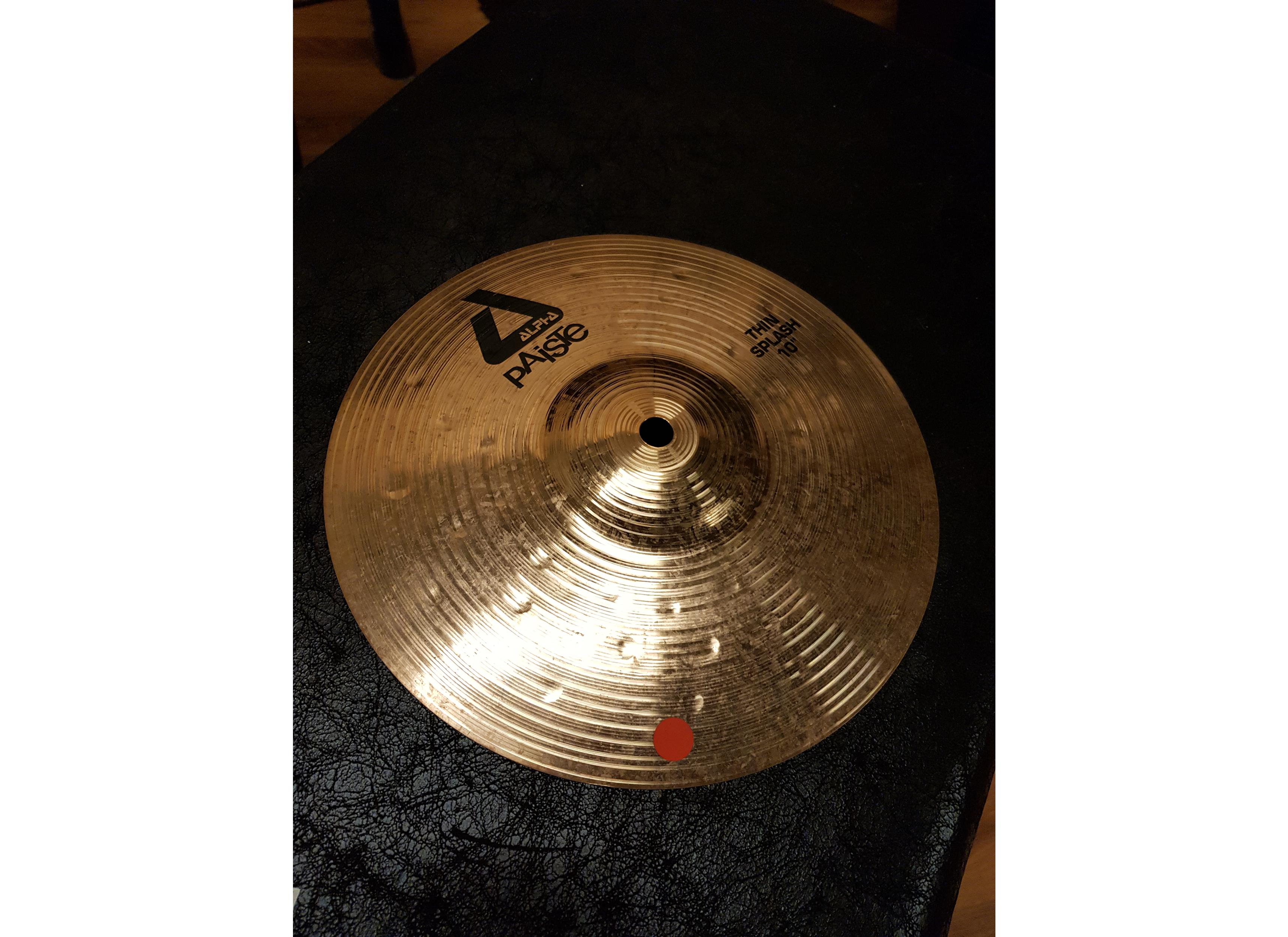 PAISTE ALPHA THIN SPLASH 10 .