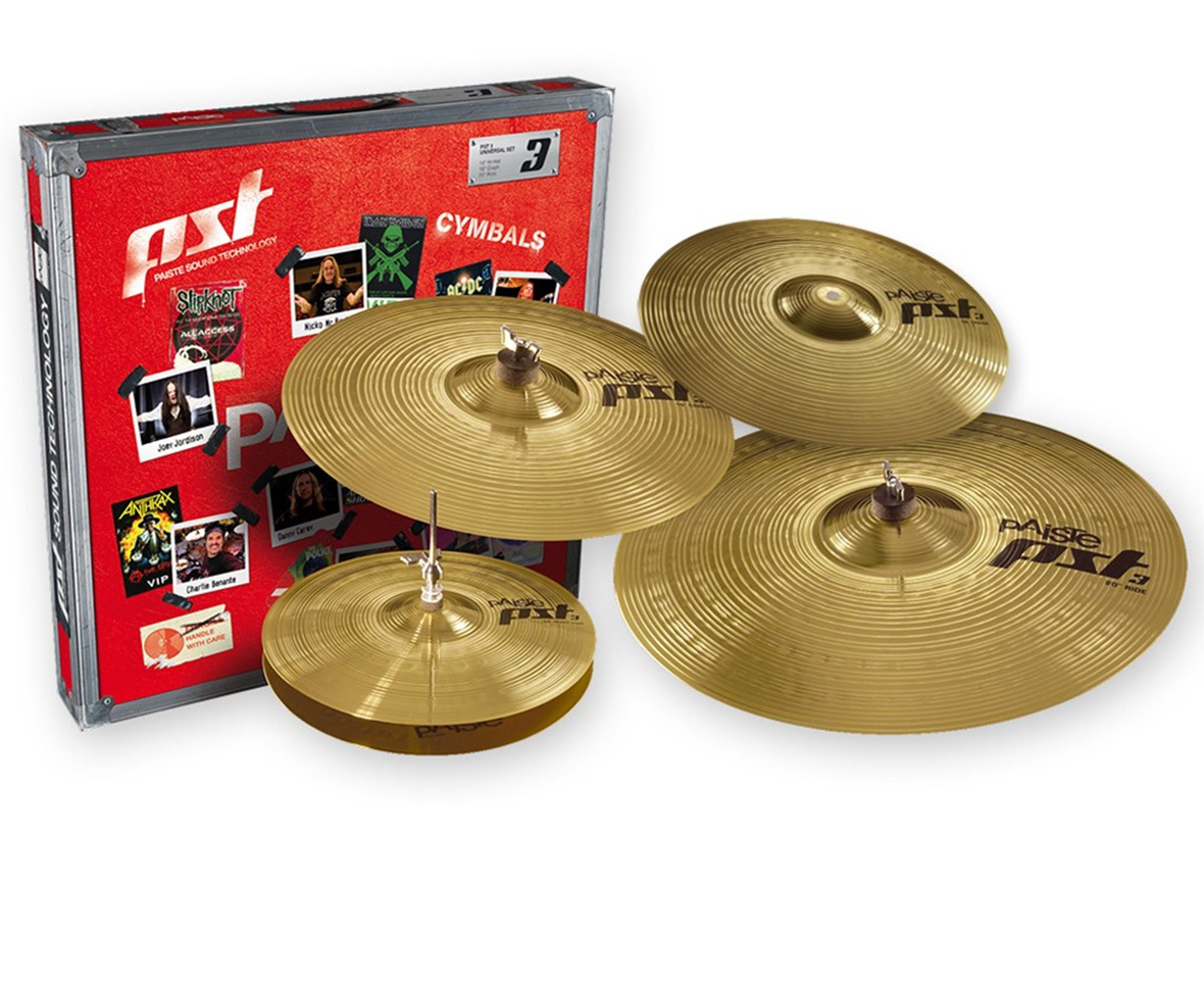 PAISTE PST3 SET UNIVERSAL + crash ride 18