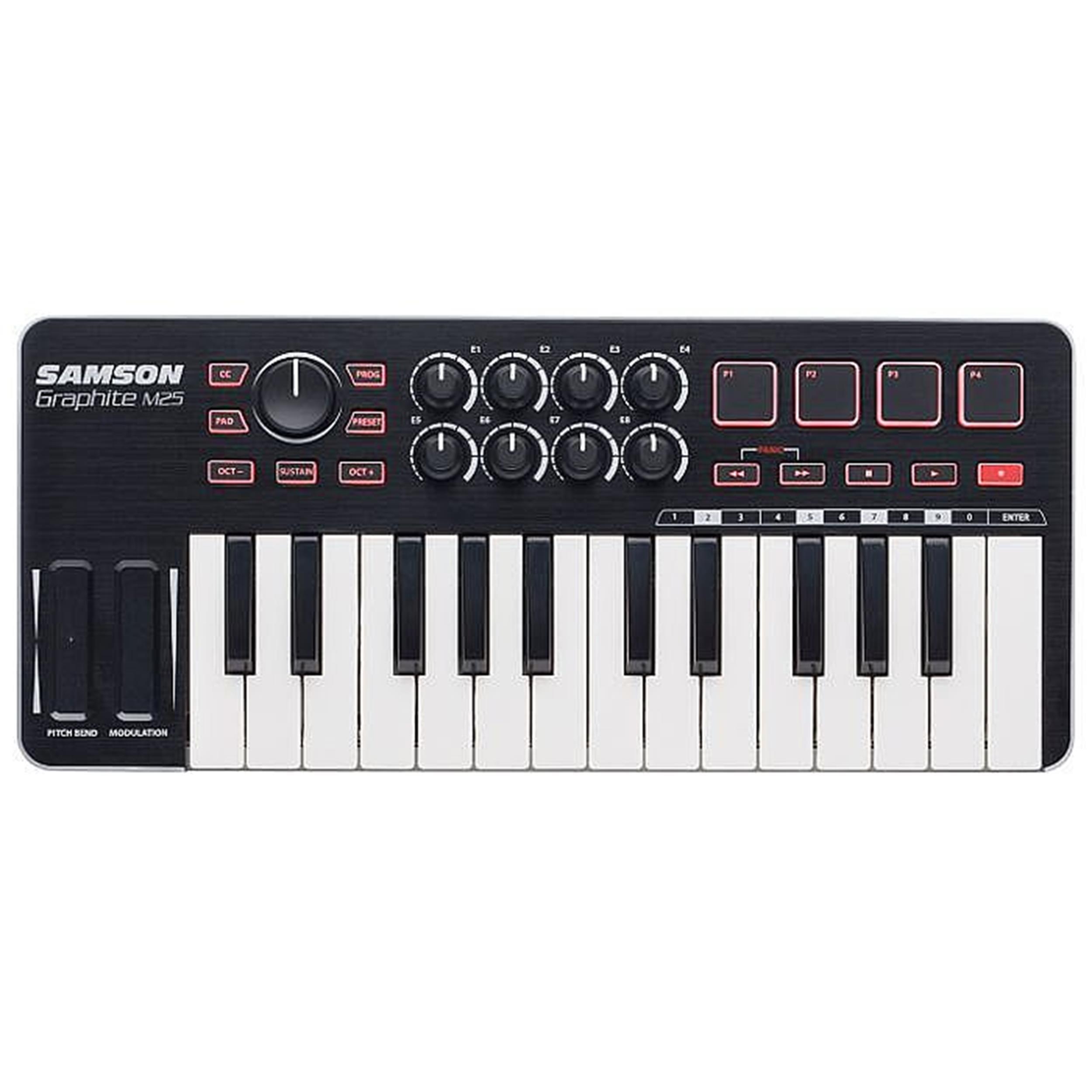 Samson GRAPHITE M25 - Mini MIDI Controller USB