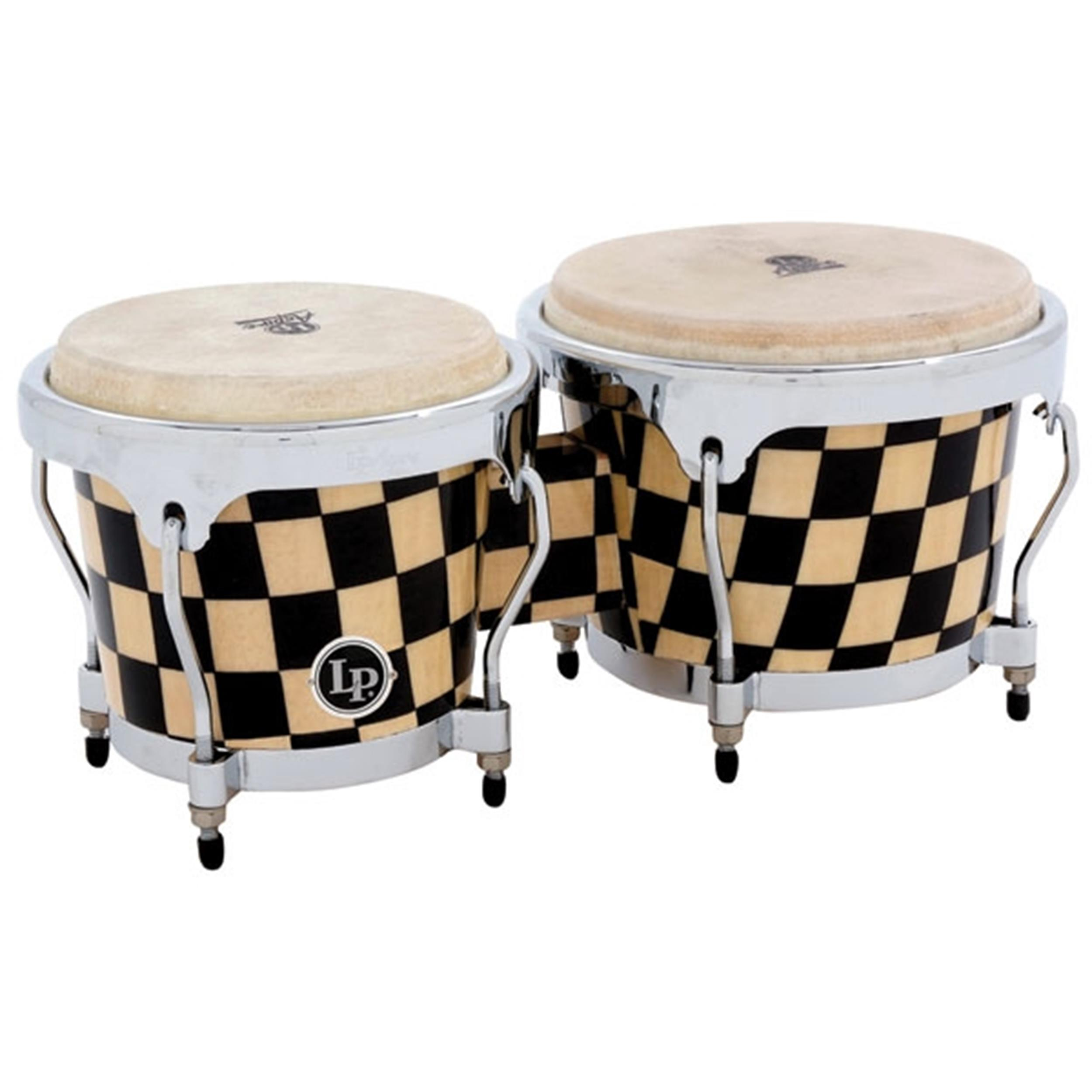 LATIN PERCUSSION LPA 601 CHKC BONGO BONGOS CHECKER BOARD