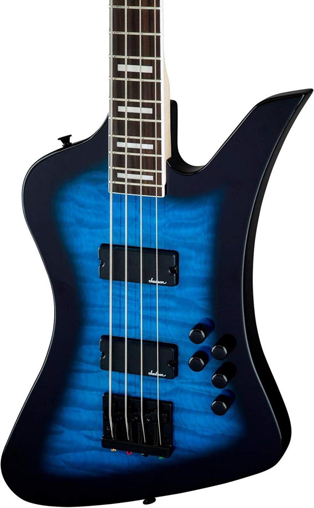 JACKSON JS Series Kelly Bird IV JS3Q RW Transparent Blue Burst  2919092585