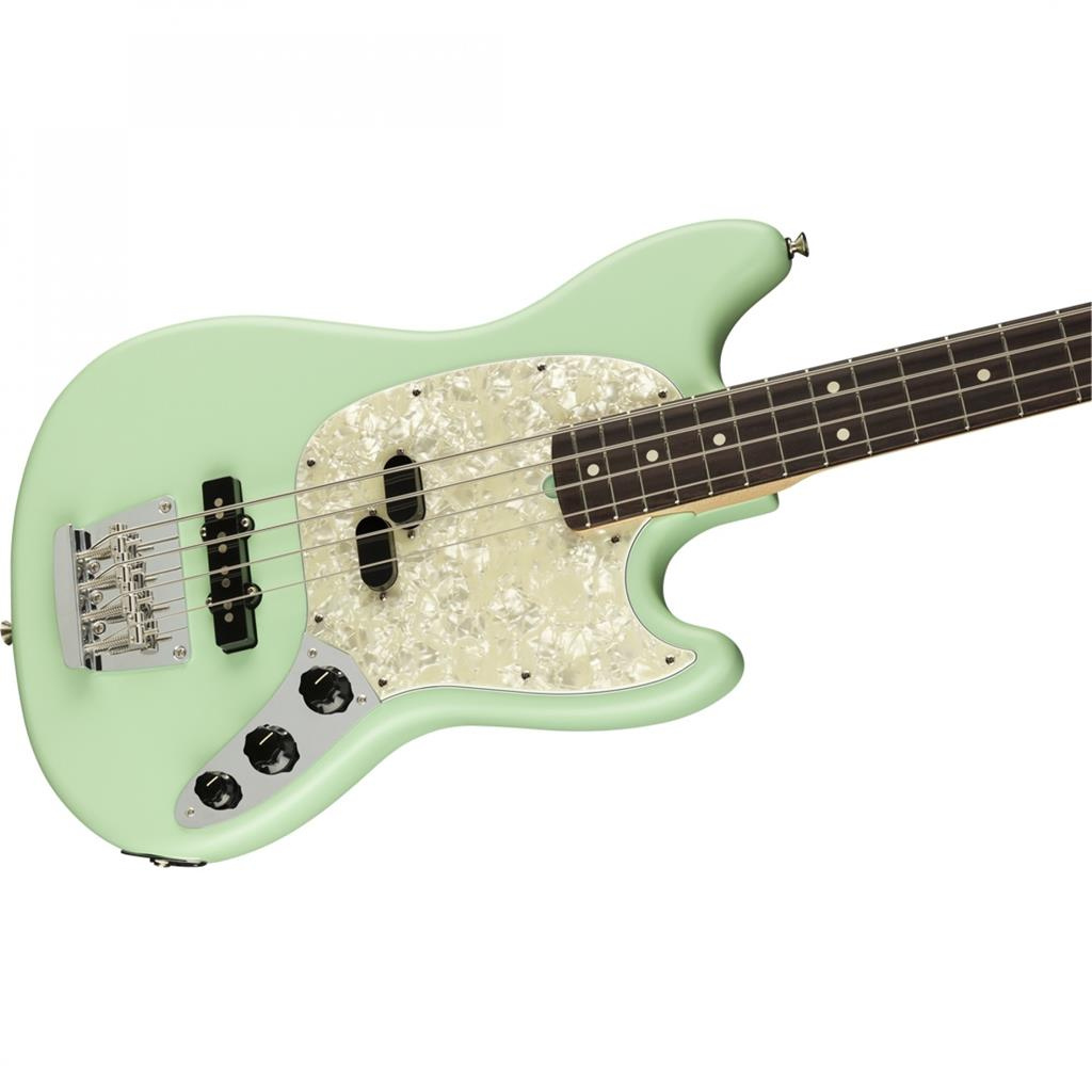 FENDER American Performer Mustang Bass RW Satin Surf Green  0198620357