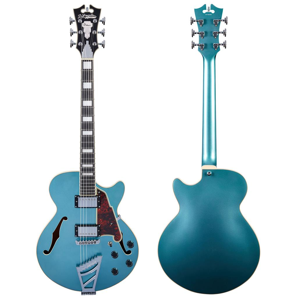 D ANGELICO Premier DC Stairstep Ocean Turquoise