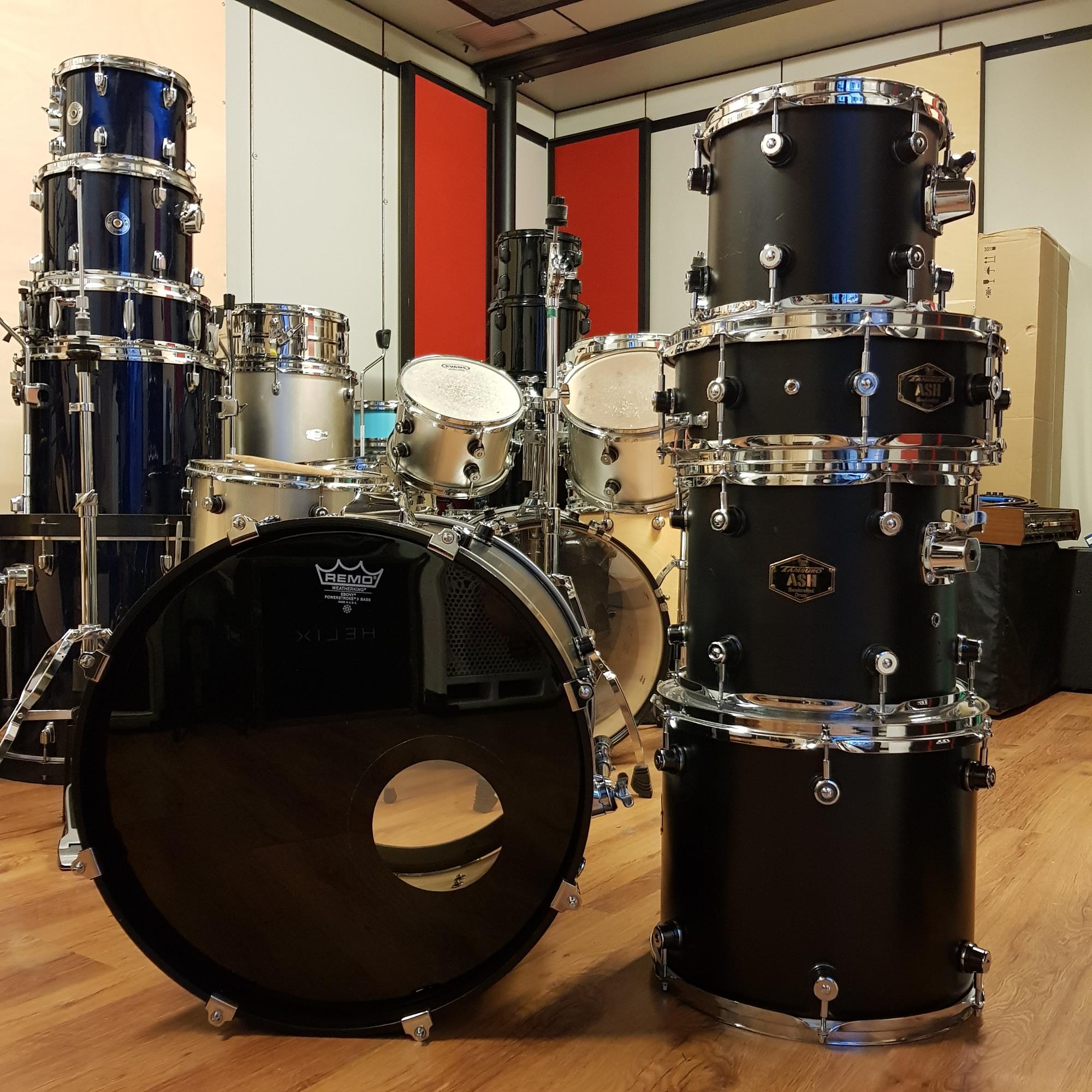 TAMBURO ASH SET BLACK MADE IN ITALY - Batterie / Percussioni Batterie - Batterie Acustiche (set)