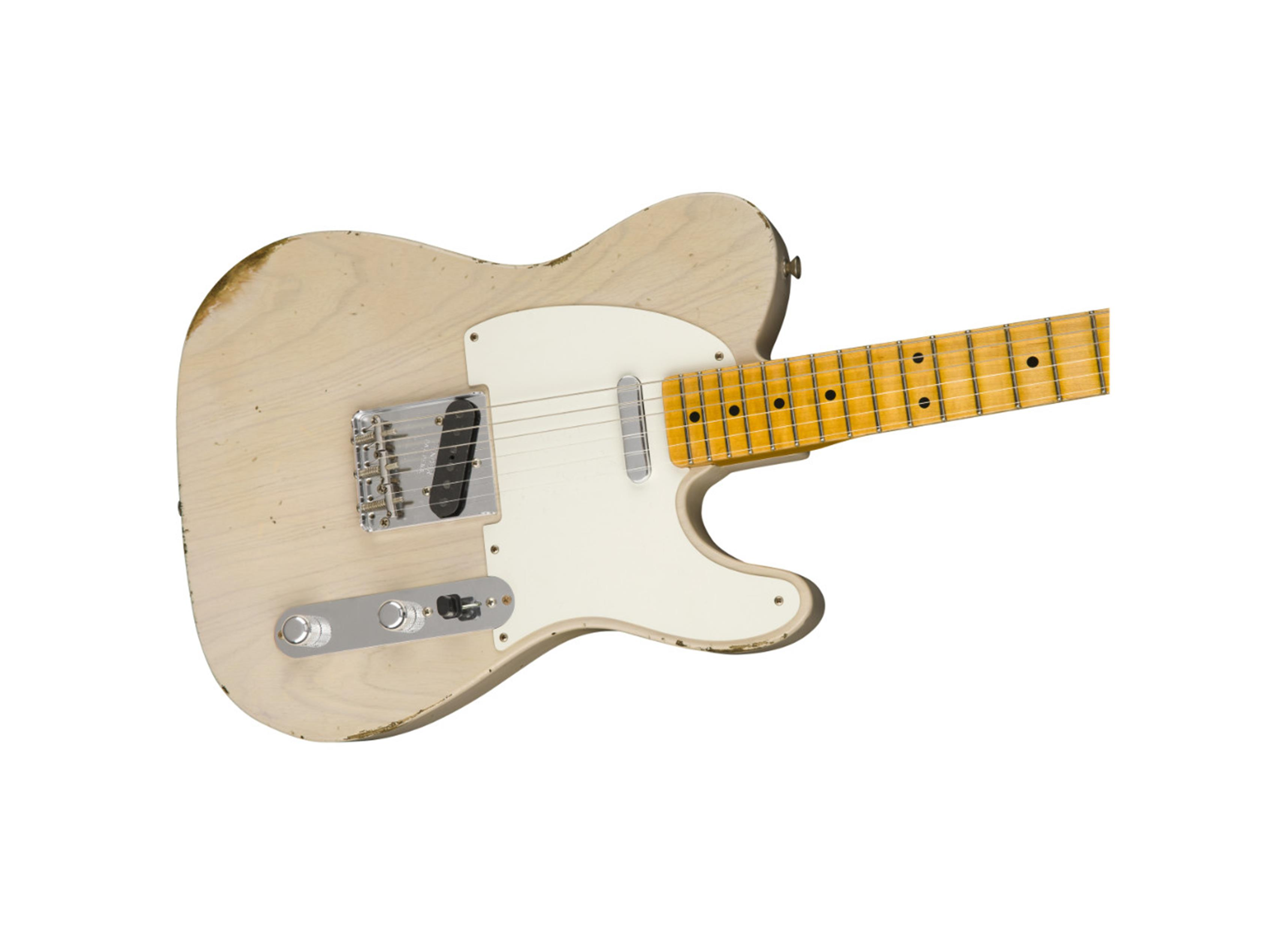 FENDER CUSTOM SHOP 1954 Telecaster Relic MN Aged White Blonde  9235000526