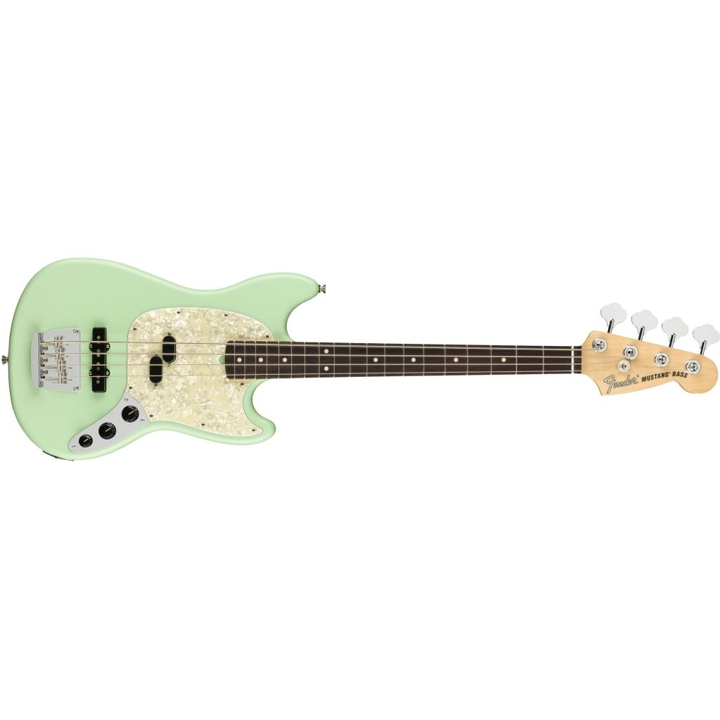 FENDER American Performer Mustang Bass RW Satin Surf Green  0198620357