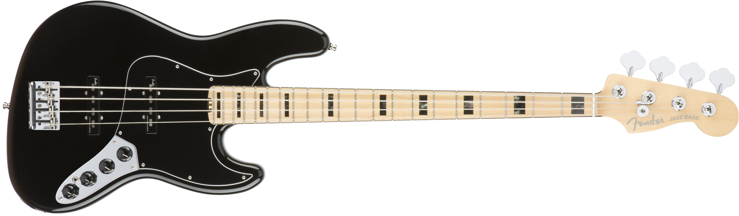 FENDER American Elite Jazz Bass MN Black  0197002706