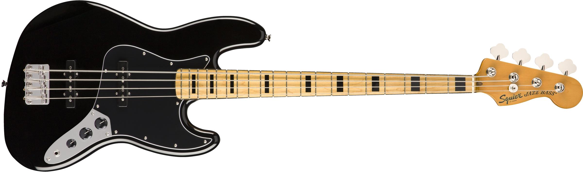 SQUIER Classic Vibe 70s Jazz Bass MN Black  0374540506
