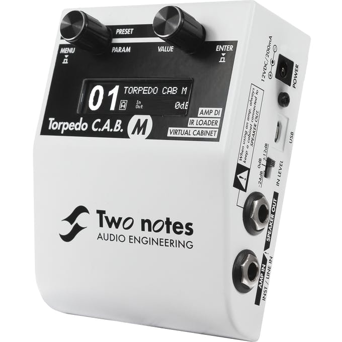 two notes torpedo c a b m cab simulator chitarre amplificatori attenuatori di potenza. Black Bedroom Furniture Sets. Home Design Ideas