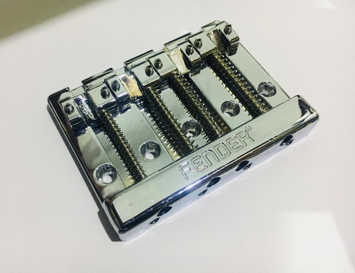 FENDER-HiMass-4-String-Bass-Bridge-Assembly-With-Brass-Saddles-Chrome-0994408000-sku-23999