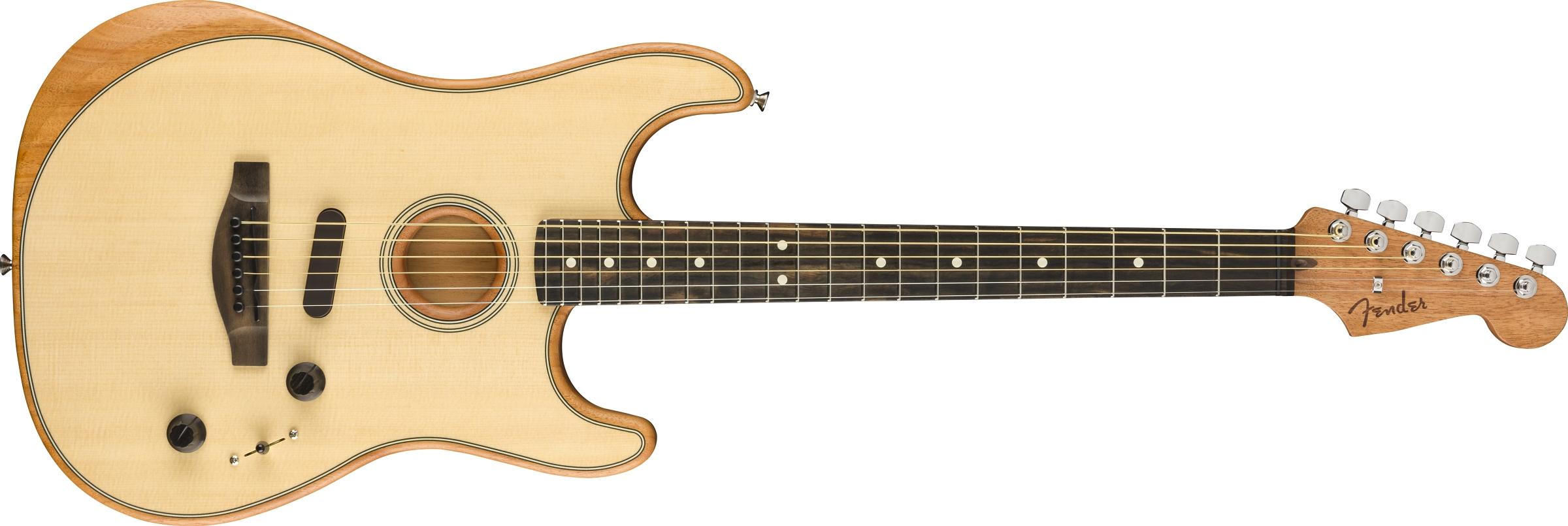 FENDER American Acoustasonic Strat Stratocaster EB Natural  0972023221 - Chitarre Chitarre - Acustiche