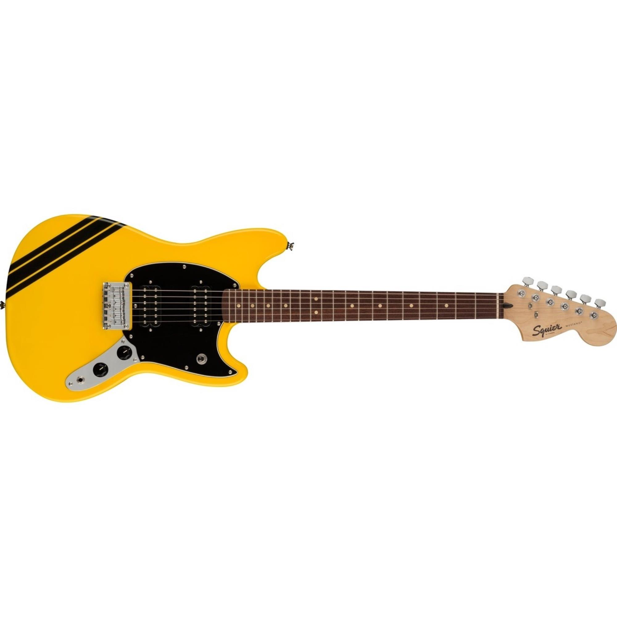 FENDER-FSR-Bullet-Competition-Mustang-HH-Graffiti-Yellow-with-Black-Stripes-0371222574-sku-24734