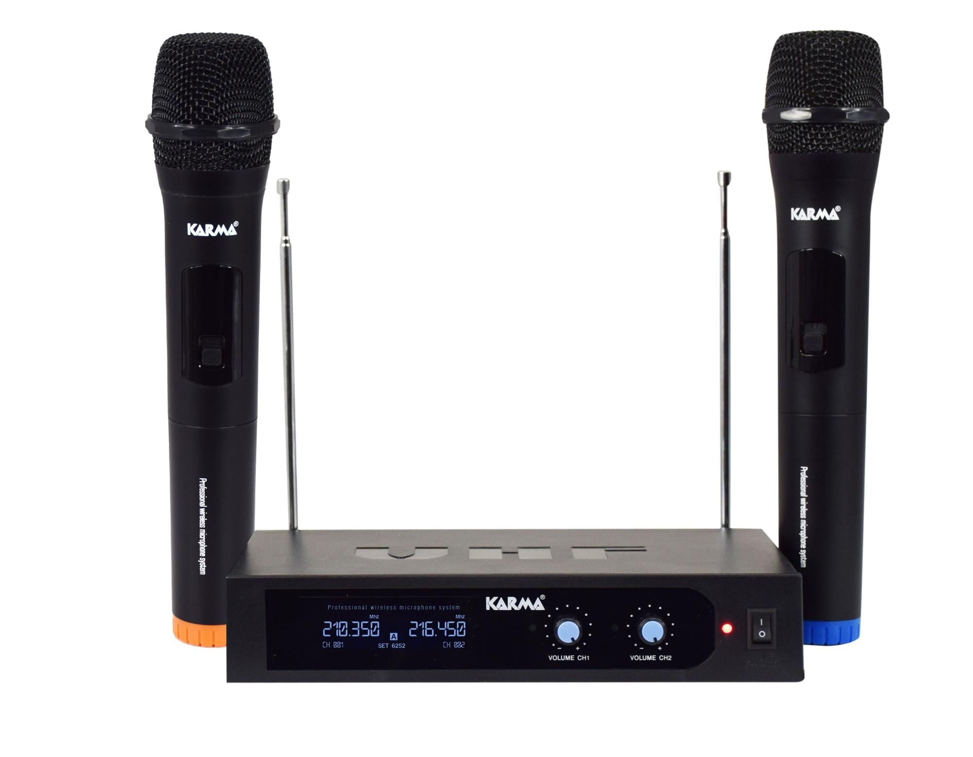 KARMA-SET-6252A-Doppio-radiomicrofono-palmare-VHF-sku-24794