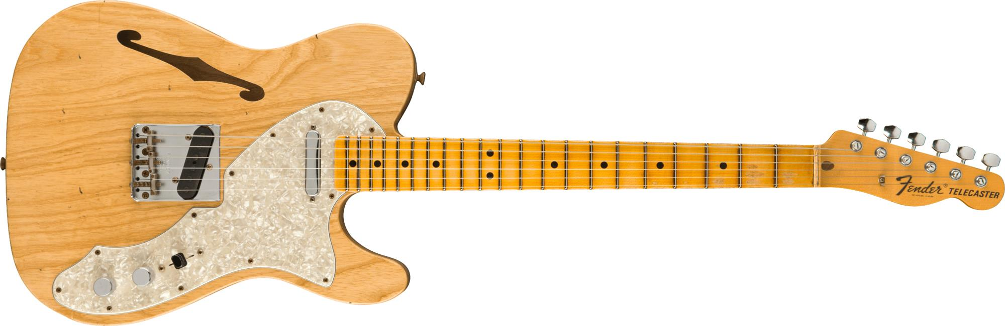 FENDER-1969-Telecaster-Thinline-Journeyman-Relic-Maple-Fingerboard-Aged-Natural-sku-571005321