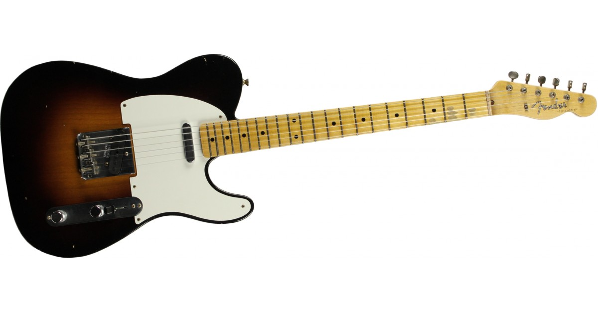 FENDER-1955-Telecaster-Journeyman-Relic-Maple-Fingerboard-Wide-Fade-2-Color-Sunburst-sku-571005330